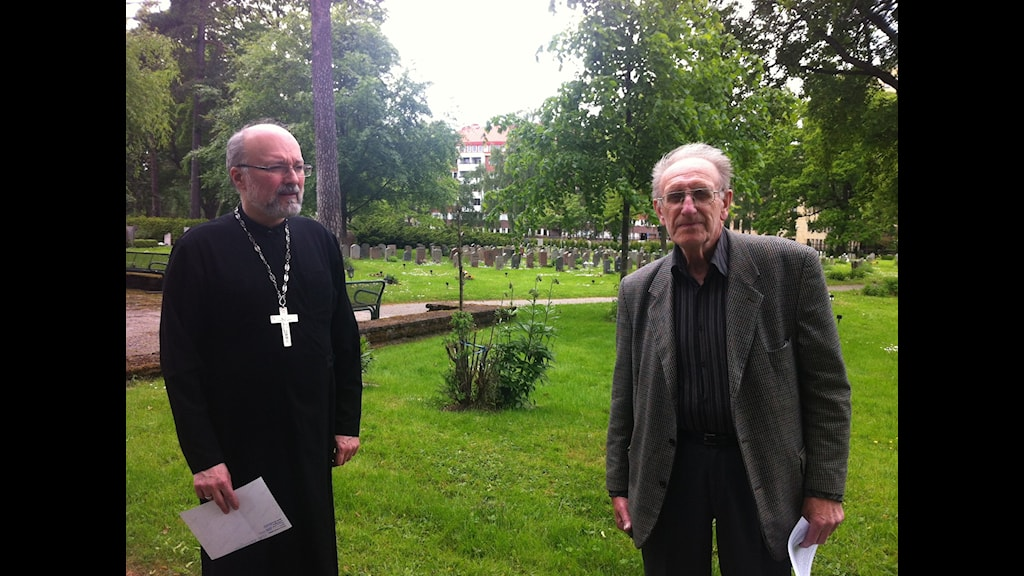 Протоиерей Ангел (Величков) и Бёрье Ульссон. Фото: Ю.Гурман/РШ