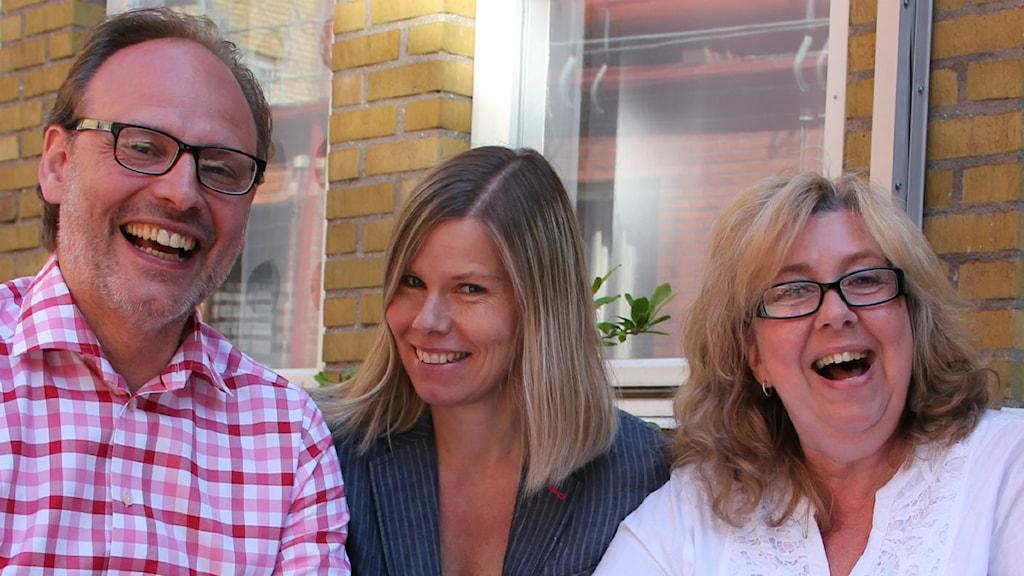 Ditt P4 Extra-gäng i Malmö! Rasmus Troedsson, Sofie Ericsson och Ann-Marie Lindqvist. Foto: Hans Zillén / Sveriges radio