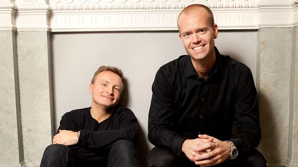 Jan Bylund och Mattias Lundberg. Copyright/fotograf: Kalle Assbring/ Forum bokförlag