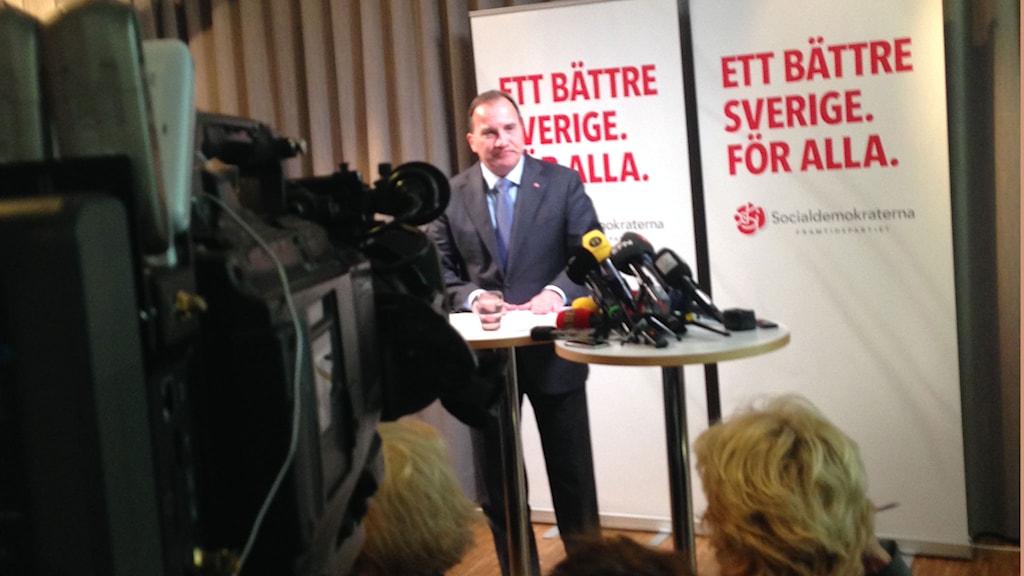 Stefan Löfven. Foto: Martin Johansson/Sveriges Radio