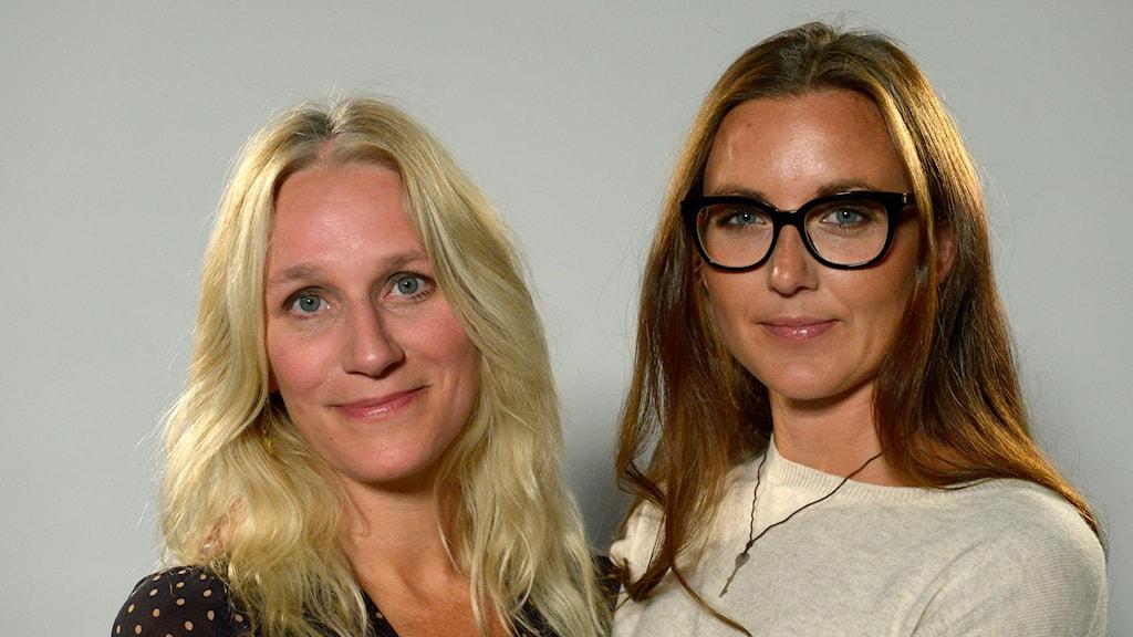 Ann Söderlund och Sanna Lundell har båda erfarenhet från medberoendet. Foto: Janerik Henriksson/TT