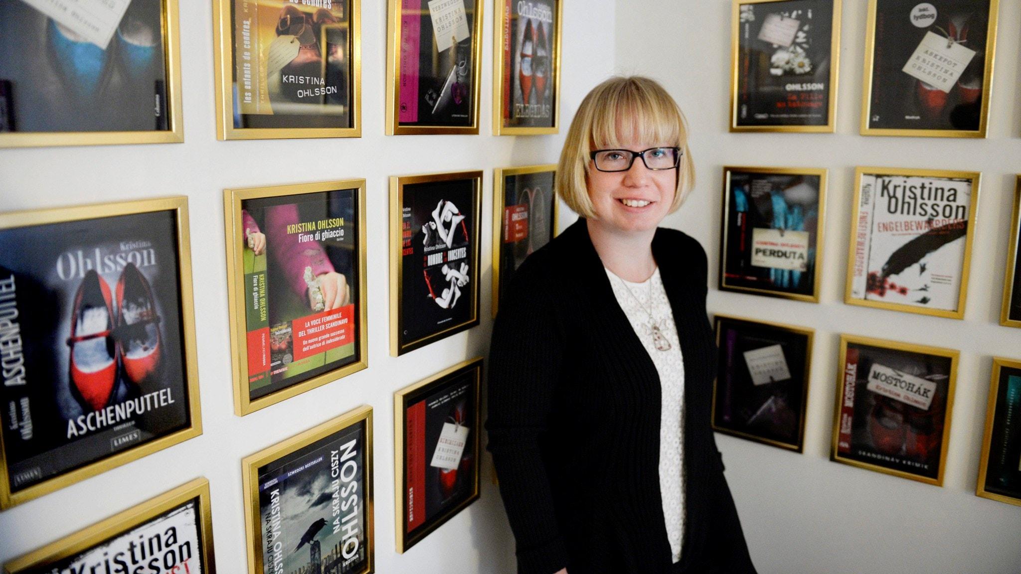 Lotta intervjuar deckarförfattaren Kristina Ohlsson i dagens P4 Extra