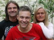 Med Fredrik B Ekdahl, Anne Marchal och Peje Johansson