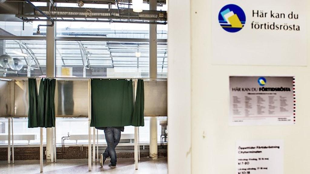 I dag, den 27 augusti, börjar förtidsröstningen till höstens riksdagsval. Foto: Lars Pehrson/TT.