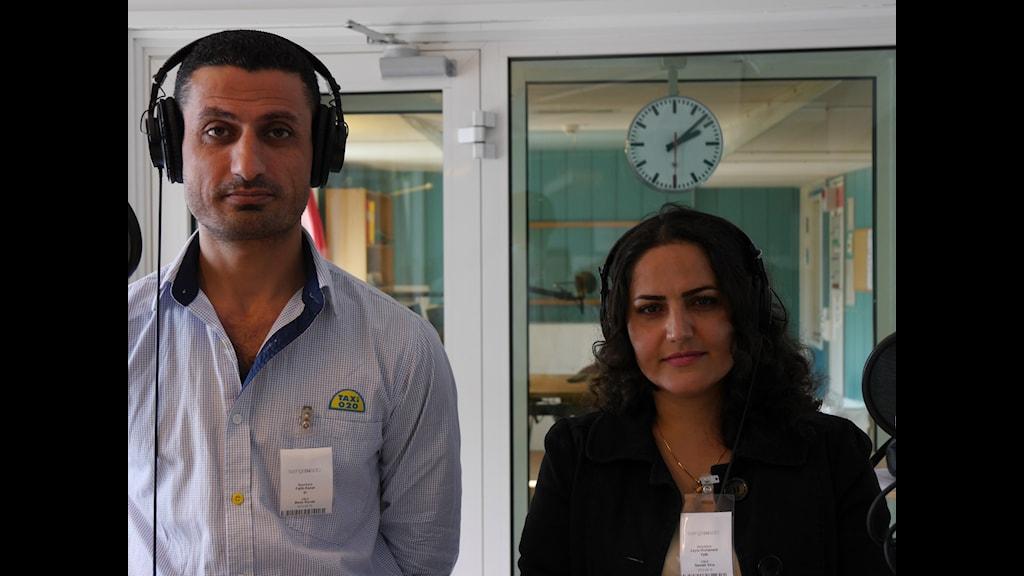 Fatih Kanat, Leila Mohamadi. Foto: Sveriges Radio