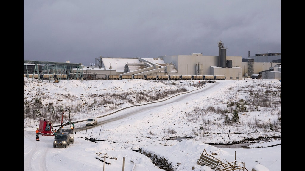 Talvivare gruvan Foto: Pekka Moliis/Scanpix
