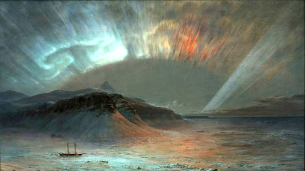 'Aurora borealis'. Frederic Church, 1865