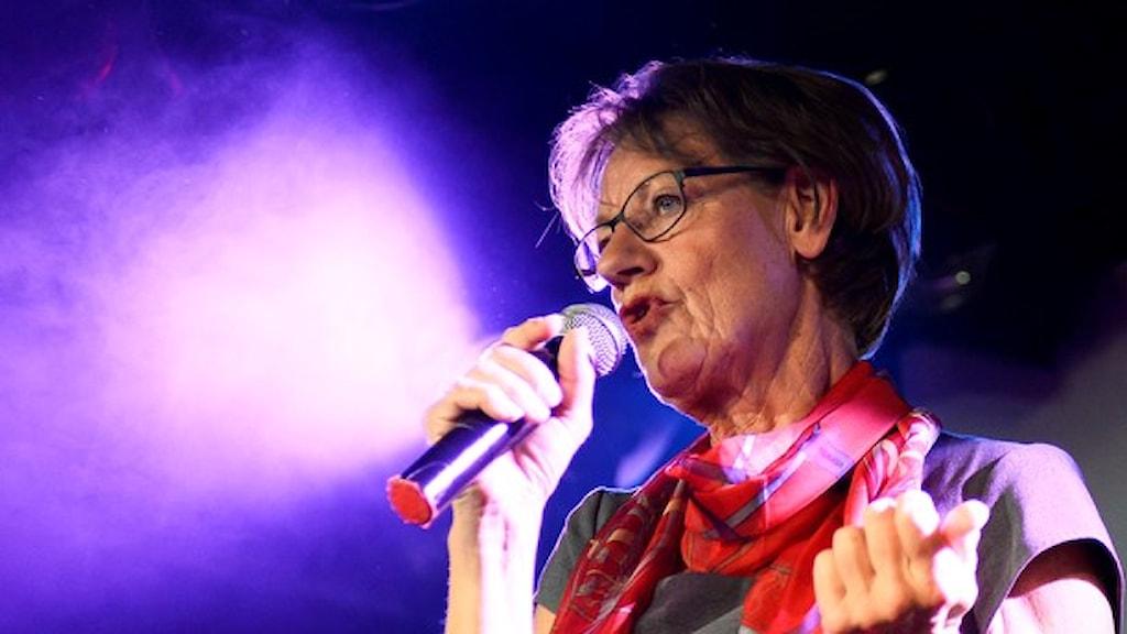 گودرون شیمن، سخنگوی حزب ابتکار فمینیستی  Foto: Maja Suslin / TT