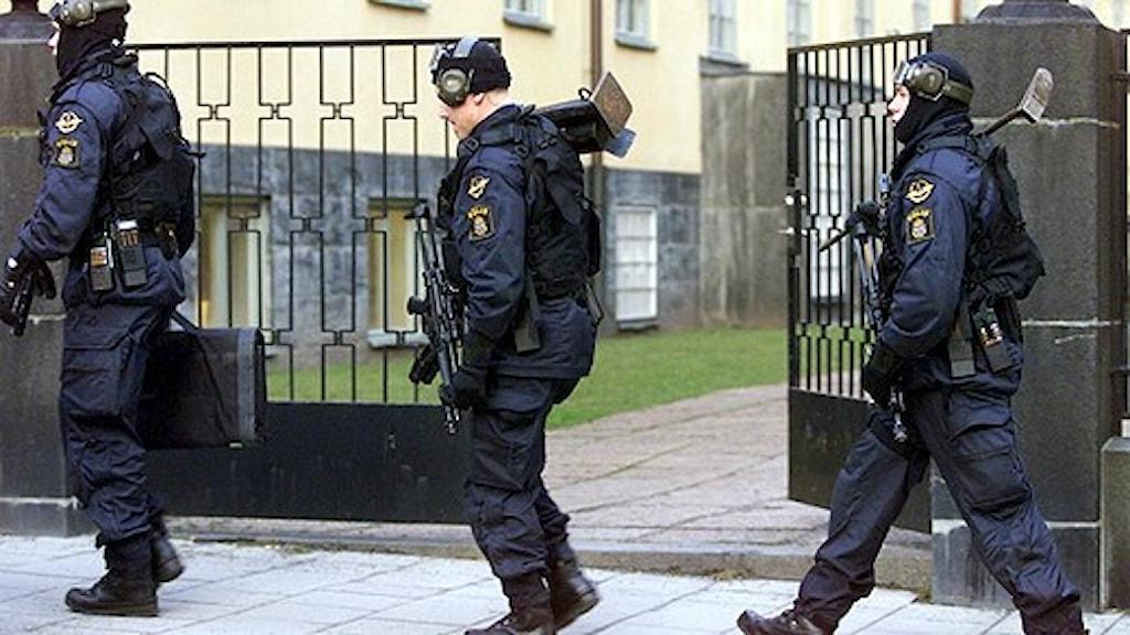 تقترح قيادة الشرطة المركزية زيادة عدد أفراد فرق قوات الامن الى 97 فرداً بدلاً عن العدد الحالي وهو 50 فرداً / صورة سكانبكس