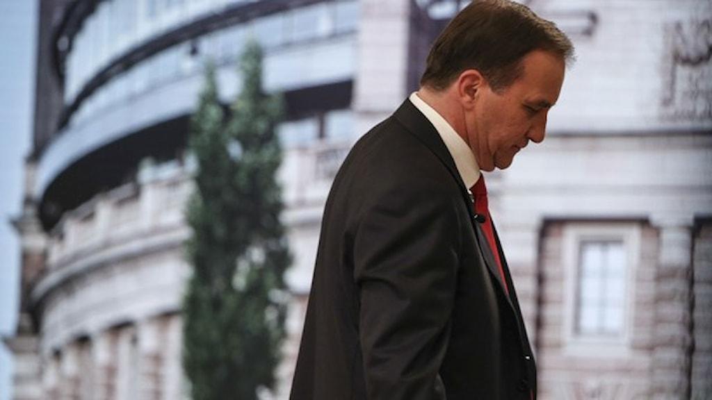 ستيفان لوفين يواجه تحدياً صعباً في تشكيل حكومته. صورة: وكالة الأنباء السويدية.