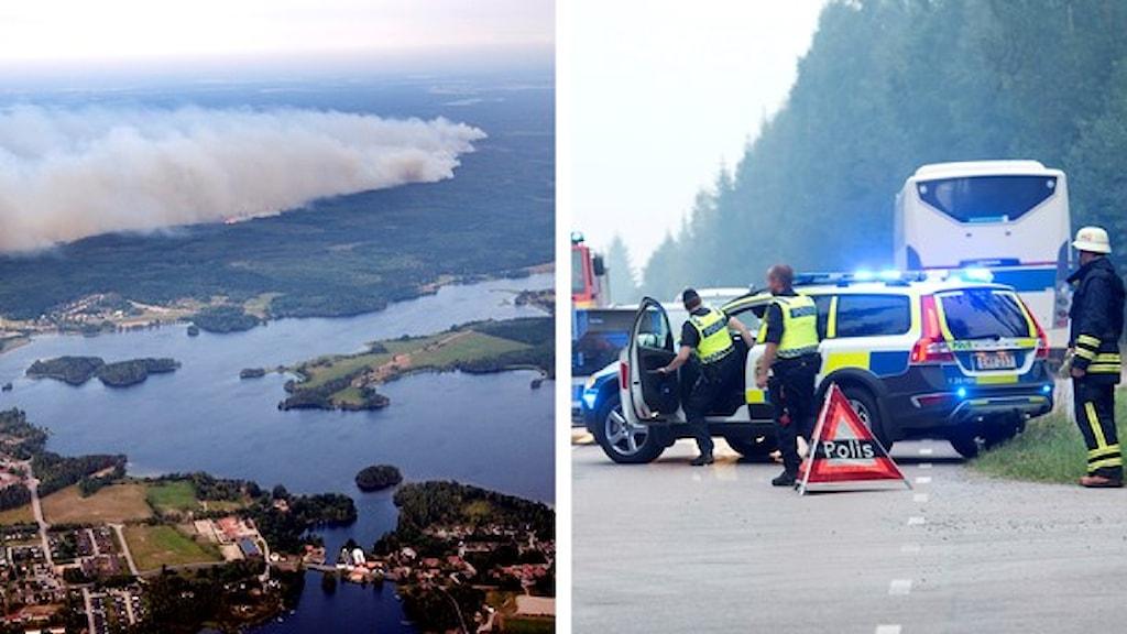 تسببت الحرائق بخسائرة كبيرة. صورة: وكالة الأنباء السويدية.