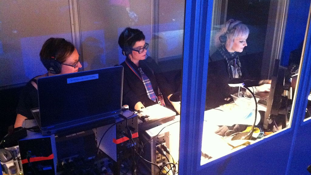 Bilder från backstage hemma hos lyssnarna och i kulsisserna på Melodifestivalfinalen. Foto: Mats Ekman / Sveriges Radio