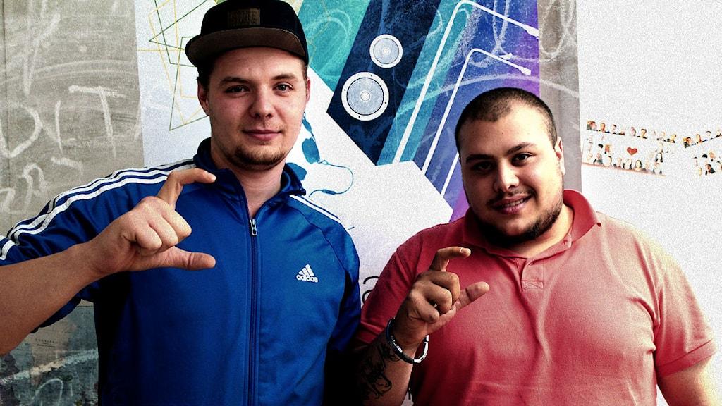 Dagens artister G Note och Doc går under namnet Centrum. Foto: Juan Havana/SR