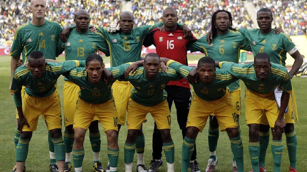 Sydafrikas startelva i träningsmatch mot polen 2009 ap photo themba