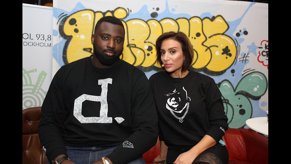 Ametist och DJ Black Moose är taggade för en ny säsong! Foto: Sofia Staaf/Sveriges Radio