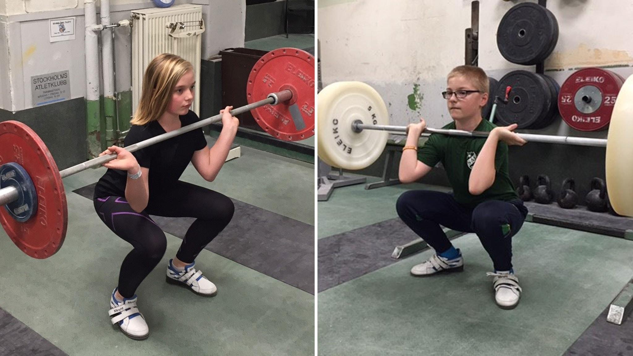 Juniorsporten testar tyngdlyftning