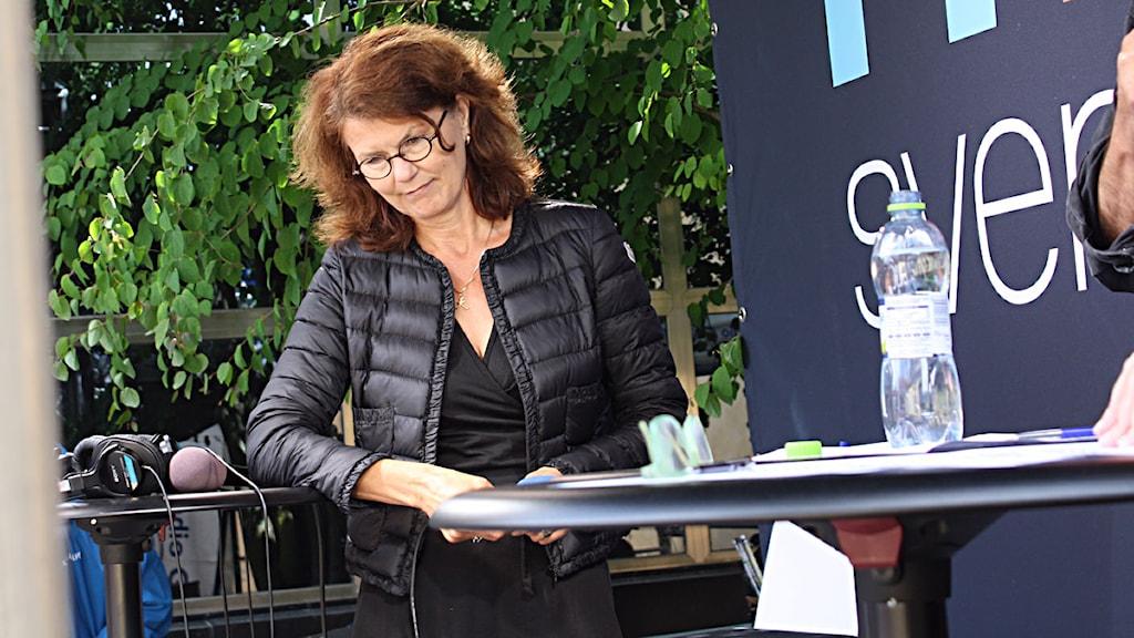Heidi Avellan. Foto: Johanna Bäck/Sveriges Radio.