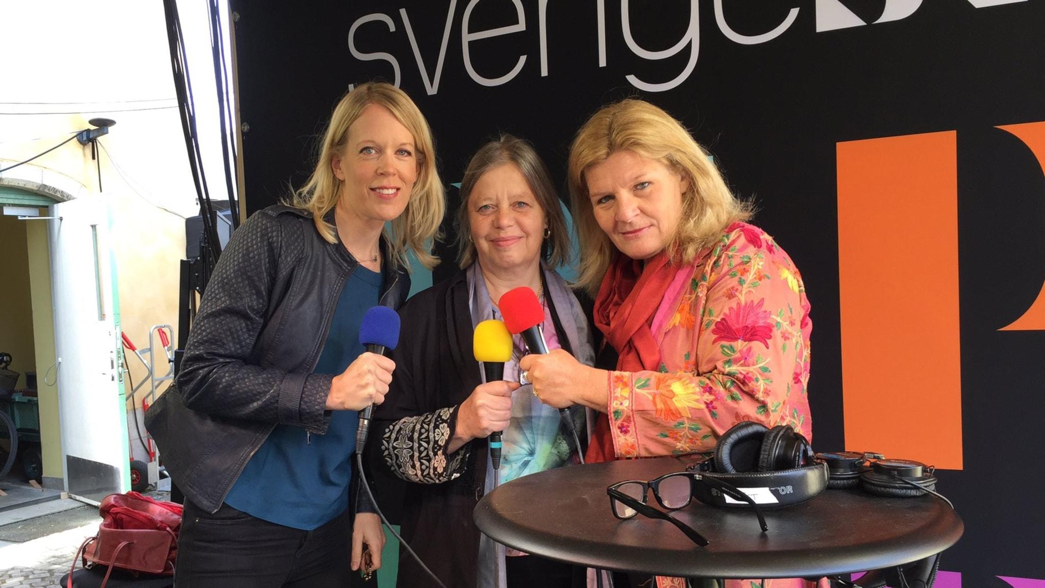 Erik Ullenhag, Bitte Hammargren, Birgitta Holst-Alani och Stina Blomgren gästar Uddén i Almedalen