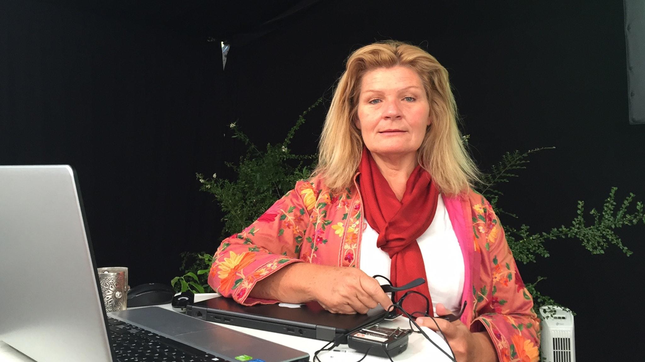 Cecilia Uddén med gäster i Almedalen