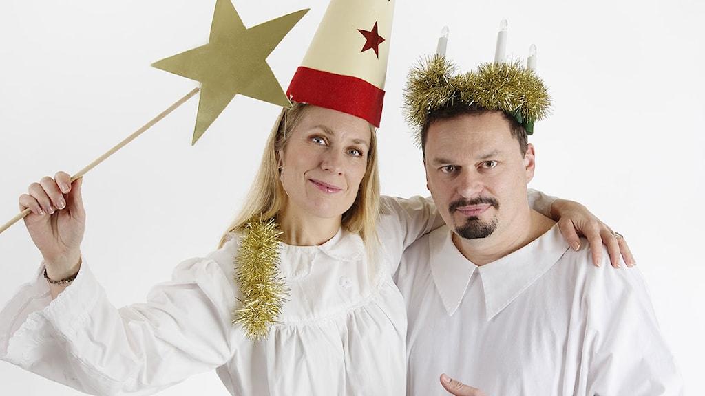 Annika Lantz och Roger Wilson. Foto: Martina Holmberg/Sveriges Radio.