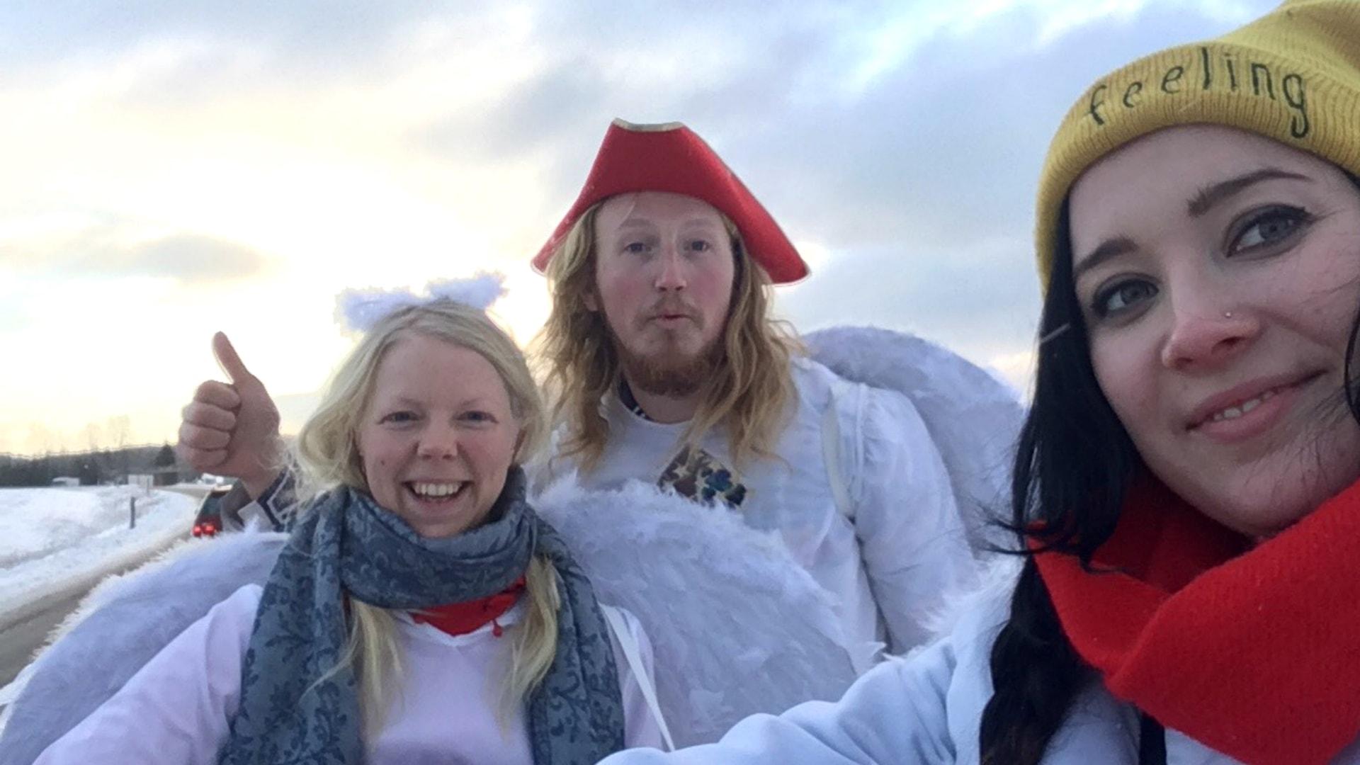Civilingenjör på luffen – utklädd till ängel