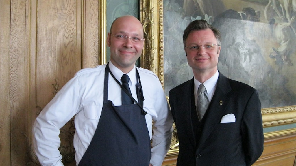 Hovfurir Jochen Fritz och taffeltäckaren Jonas Wallin