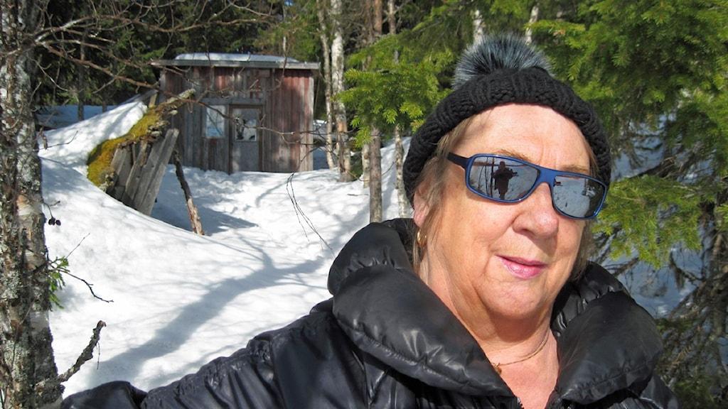 Ewa Hed vid kojan Foto: Örjan Holmberg