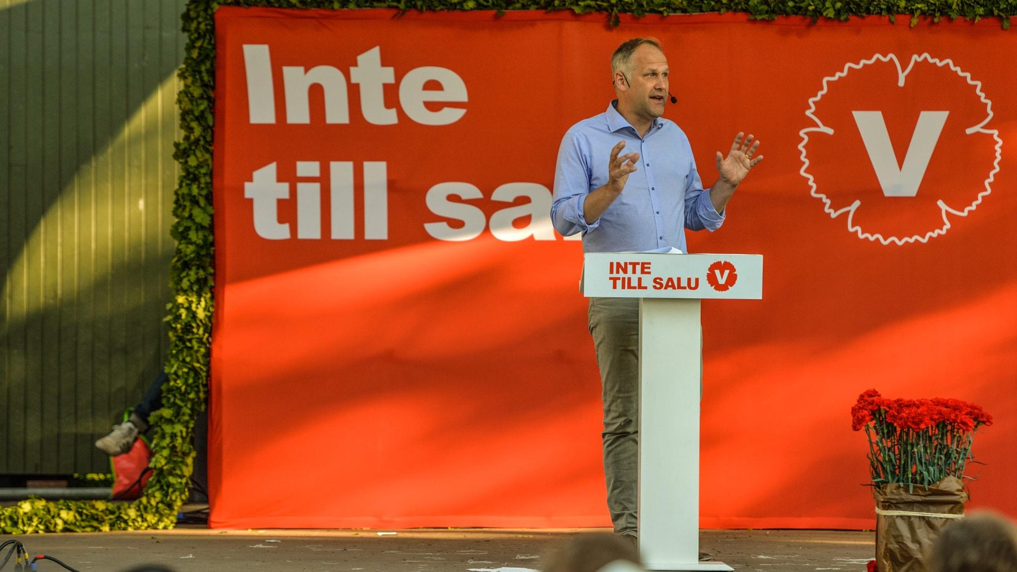 Jonas Sjöstedt talar i Almedalen 2015