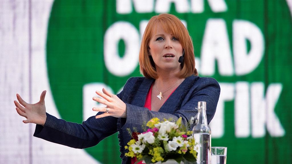 Annie Lööf (C) talar i Almedalen 2016