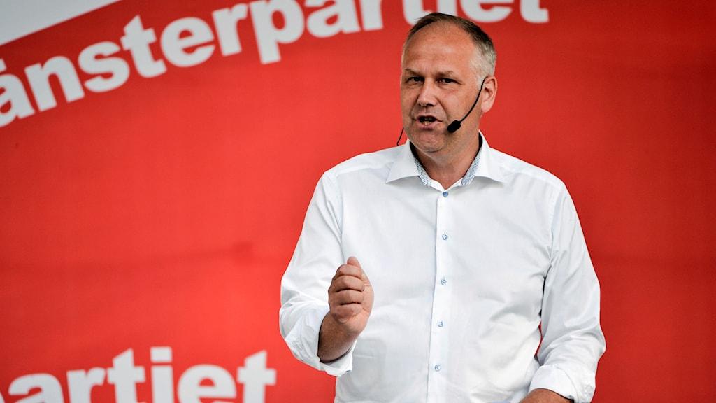 Jonas Sjöstedt (V) talar i Almedalen 2016