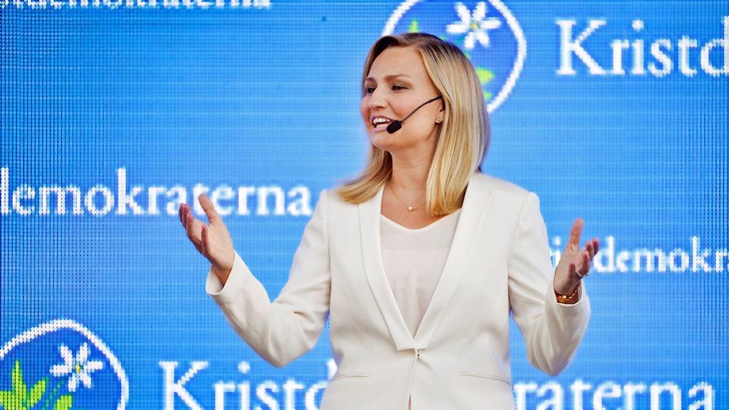 Ebba Busch Thor (KD) talar i Almedalen 2016