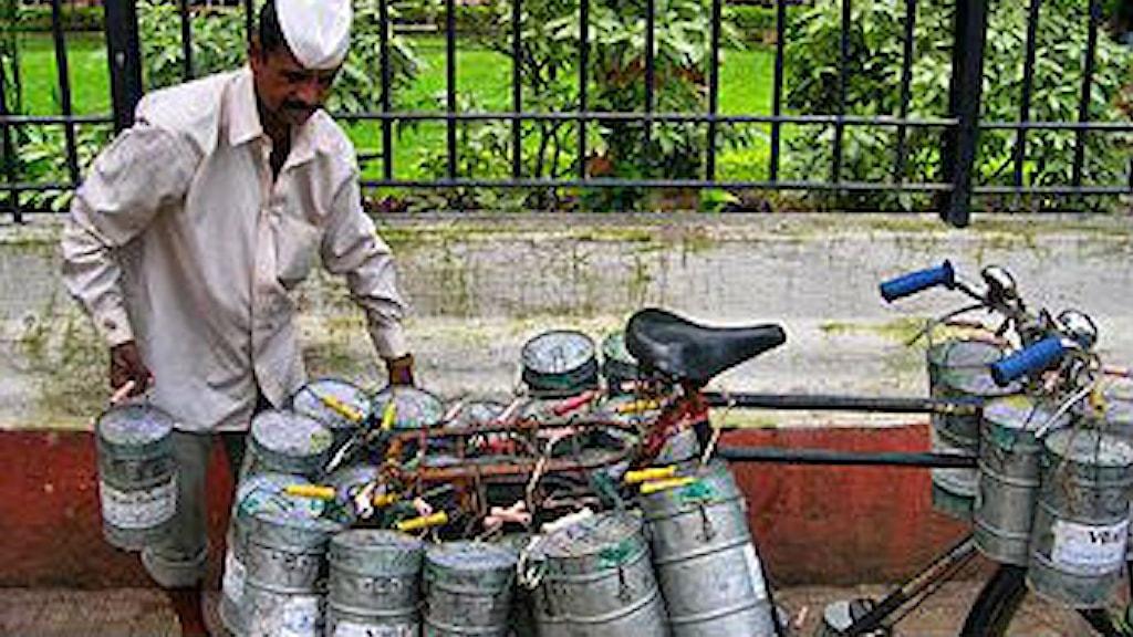 En matleverantör i Mumbai. Foto: Sveriges Radio