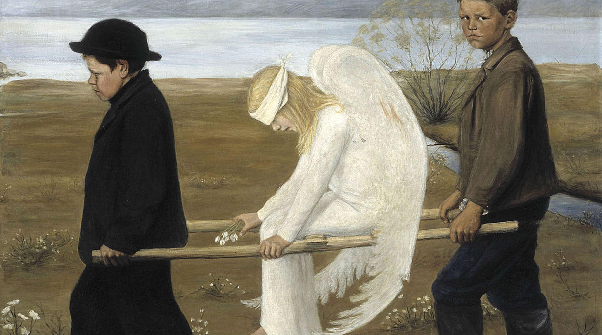 Sårad ängel av Hugo Simberg
