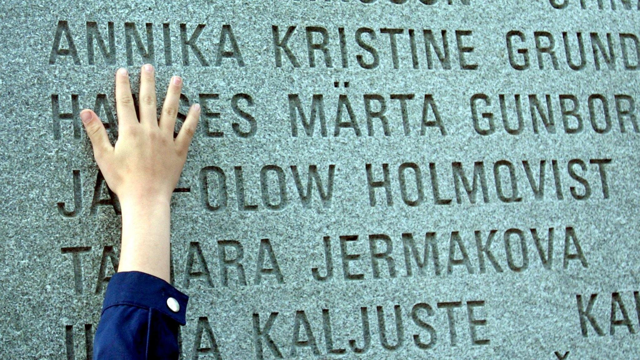 Estoniamonumentet – att hämta hem de döda