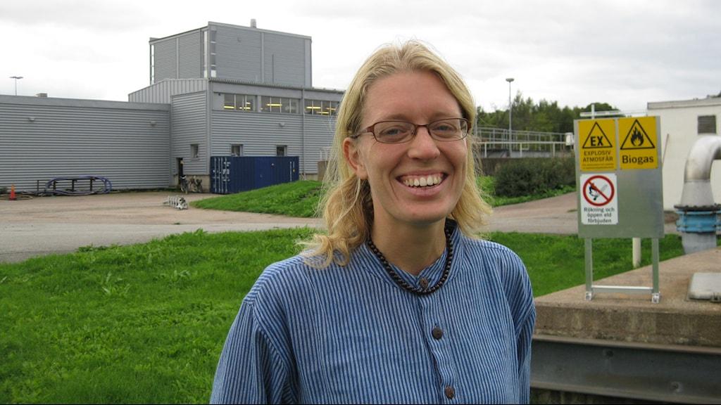 Utredningsingenjör Caroline Holm Uppsala Vatten. Foto: Johan Bergendorff / Sveriges Radio