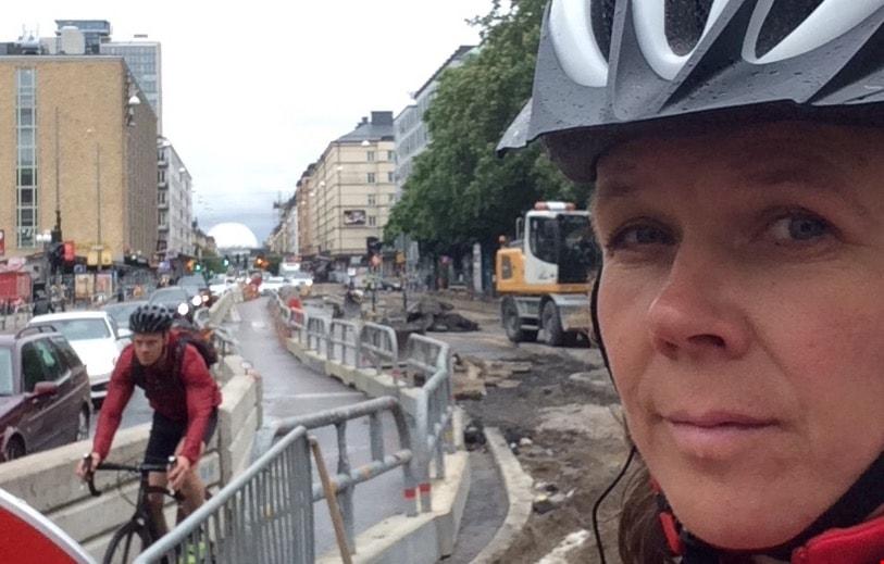 Cyklisterna demonstrerar, cyklisterna har fått nog...