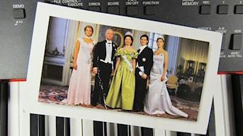 Vykort på kungafamiljen foto:Mia Blomgren