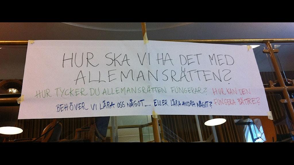 Rådslag om allemansrätten 2 Foto: Ola hemström
