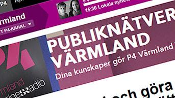 Publiknätverket Värmland (Skärmdump). Foto: Sveriges Radio.