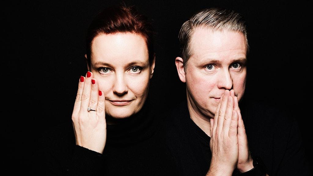 Lisa Wall och Pelle Moeld. Foto: Mattias Ahlm / Sveriges Radio