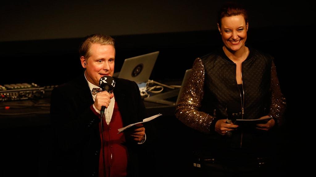 Pelle Moeld och Lisa Wall. Foto: Martina Holmberg / Sveriges Radio