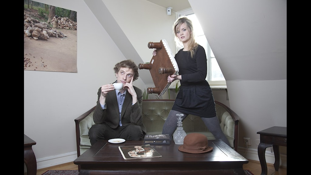 Ola och Nanna möts i en debatt! FOTO: Mikael Andersson/SR