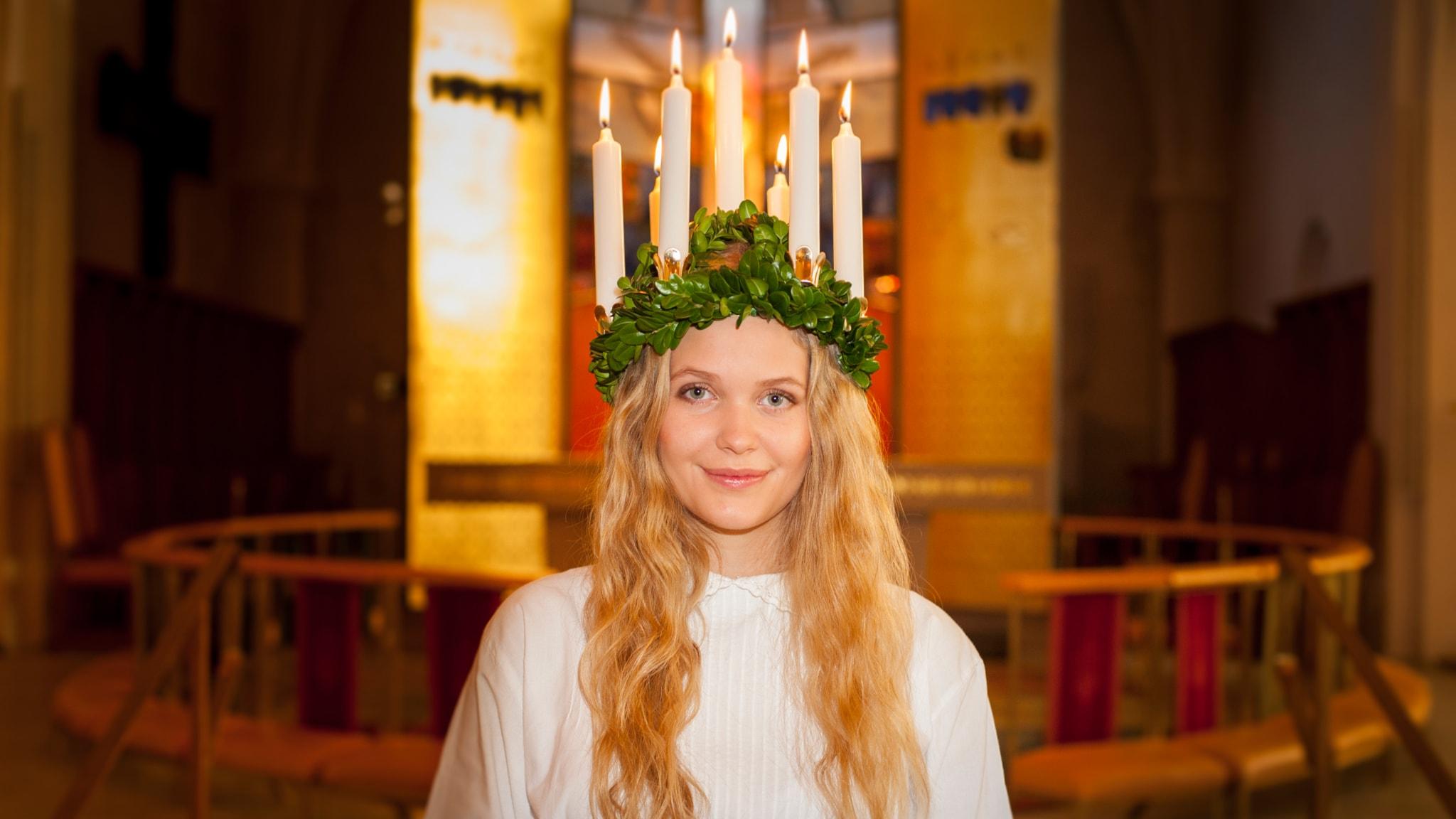Lucia med Charlotte Perrelli och Växjö Katedralskola