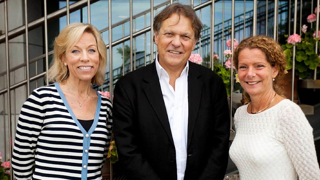 Ginna Lindberg, Paul Johnson och Cilla Benkö FOTO: Johan Ljungström/SR