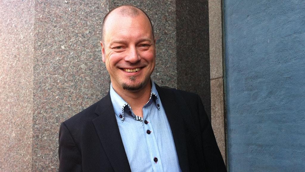 Jesper Strömbäck, professor i journalistik och politisk kommunikation vid Mittuniversitetet i Sundsvall. FOTO: Cecilia Djurberg/SR