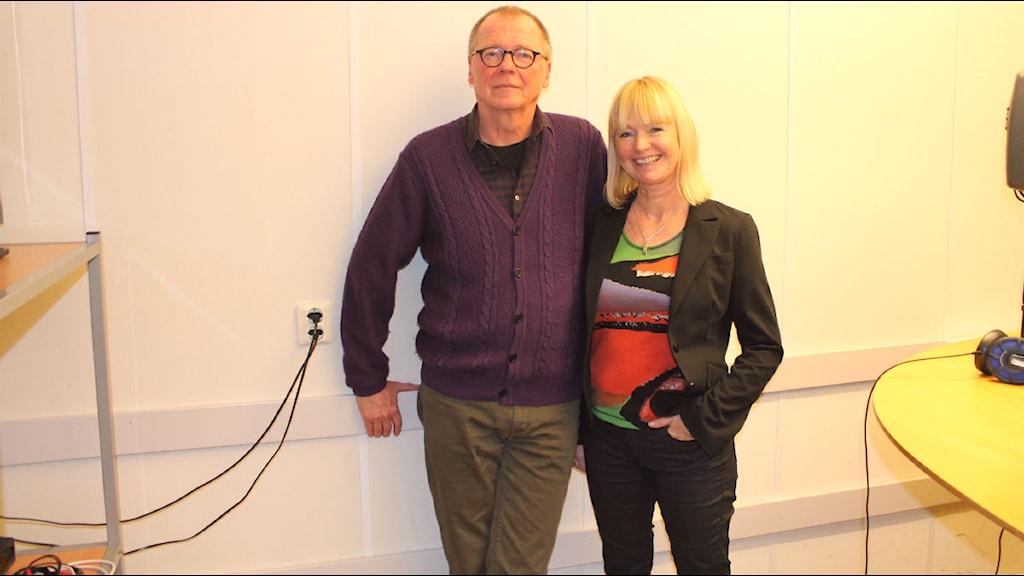 Sven-Axel Månsson och Charlotta Löfgren-Mårtenson.Foto:Ligga med P3
