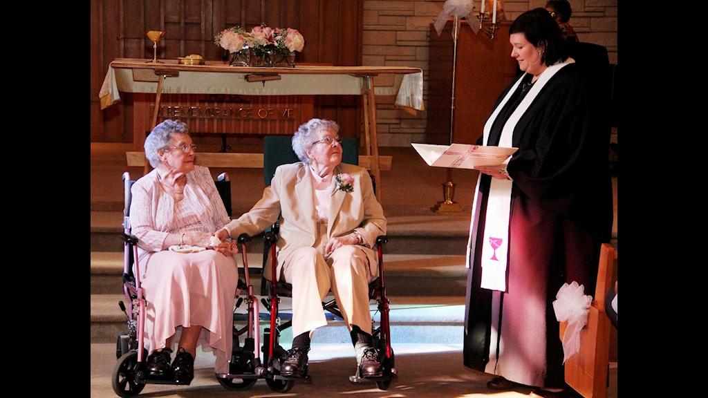 Vivian och Alice gifta efter 72 år FOTO: THOMAS GEYER/TT