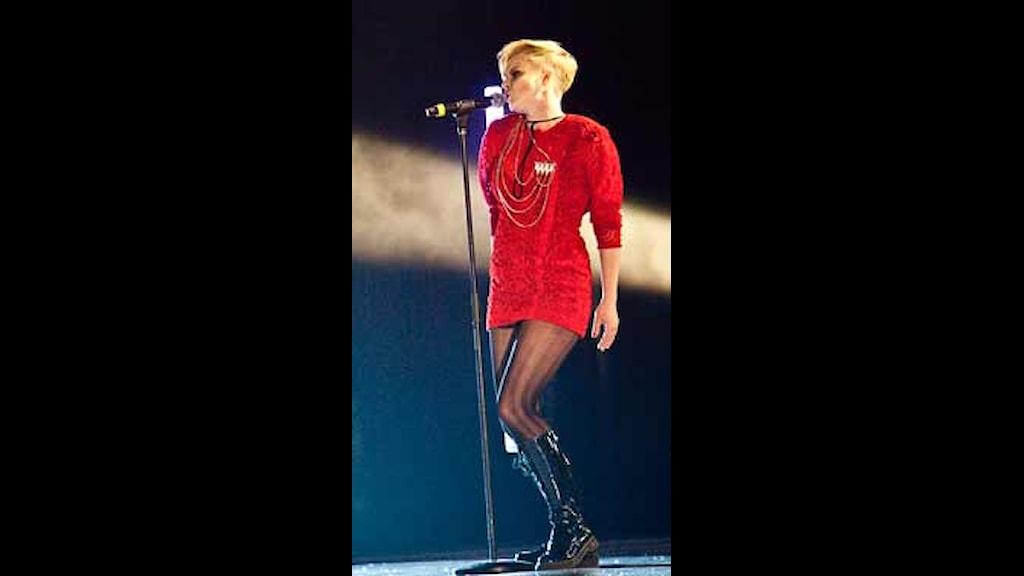 Robyn uppträdde på galan 2010. Foto: Olivia Mariette Borg/SR