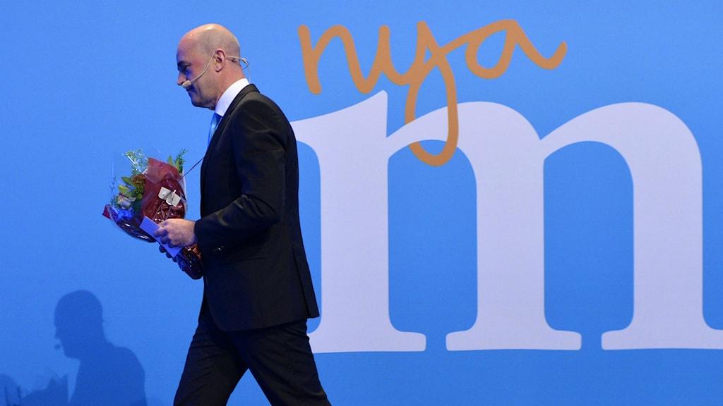 Moderaternas avgående partiledare Fredrik Reinfeldt. Foto: Henrik Montgomery / TT