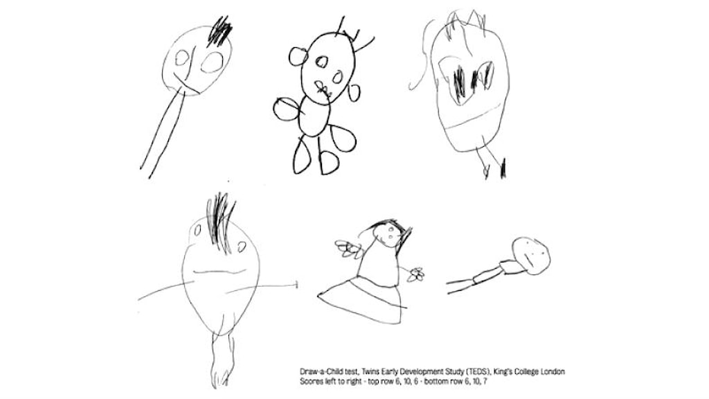 Barnteckningar av människor
